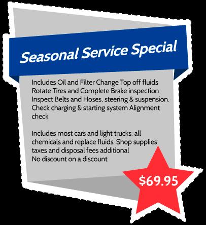 Seasonal Service Special 69